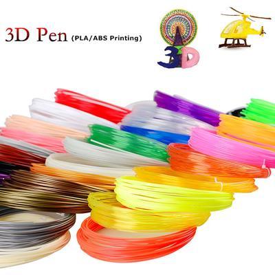 20 Colors 10M//Color 3D Pen Filament ABS//PLA 1.75mm For 3d Drawing Printer Pen