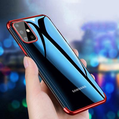 Electroplated Case For Samsung Galaxy S21 Ultra S20 FE A21S A31 A21 A41 A51 A71 5G Note 20 S20 Ultra Plus Luxury Transparent Soft Silicon Plating Case