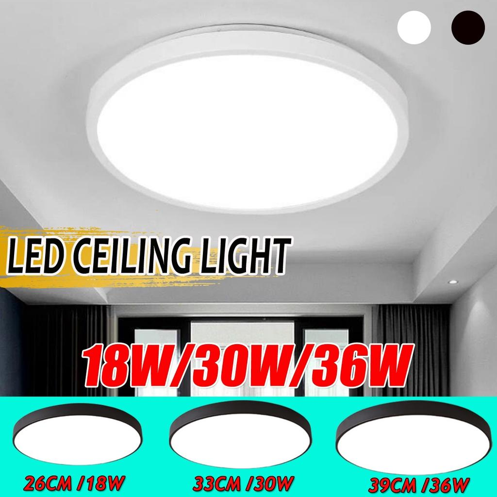 Buy Super Bright Ceiling Lights 6000k 6500k Led Flush Mount Ceiling Lighting Fixtures Daylight White For Living Room Bedroom Kitchen Hallway Office At Affordable Prices Price 11 Usd Free Shipping Real Reviews