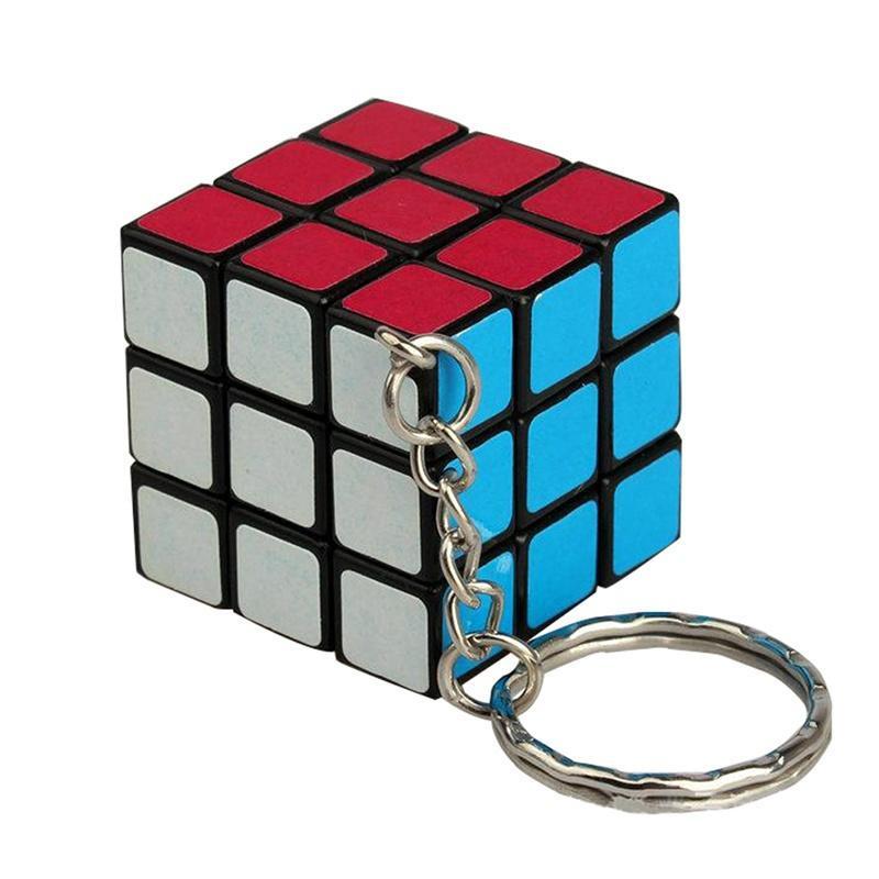 3 x 3 x 3 магия куб мини-скорость головоломка кубик Рубика твист брелок брелок брелок игрушка в подарок фото