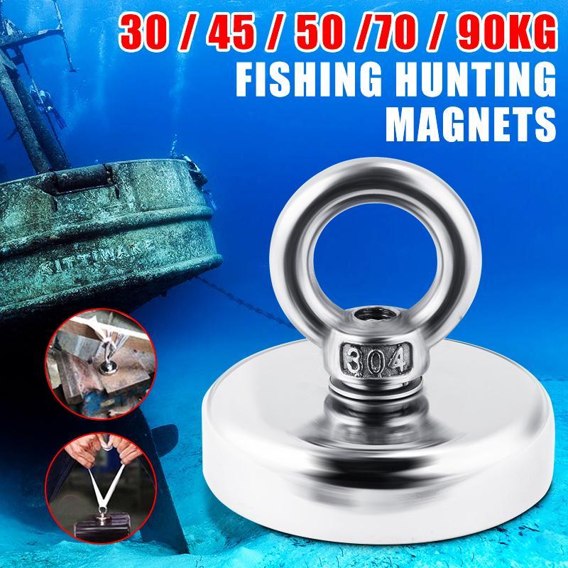 Magnet/_METAL DETECTOR Recovery/_TREASURE FINDER NEODYMIUM/_Fishing MAX 150kg