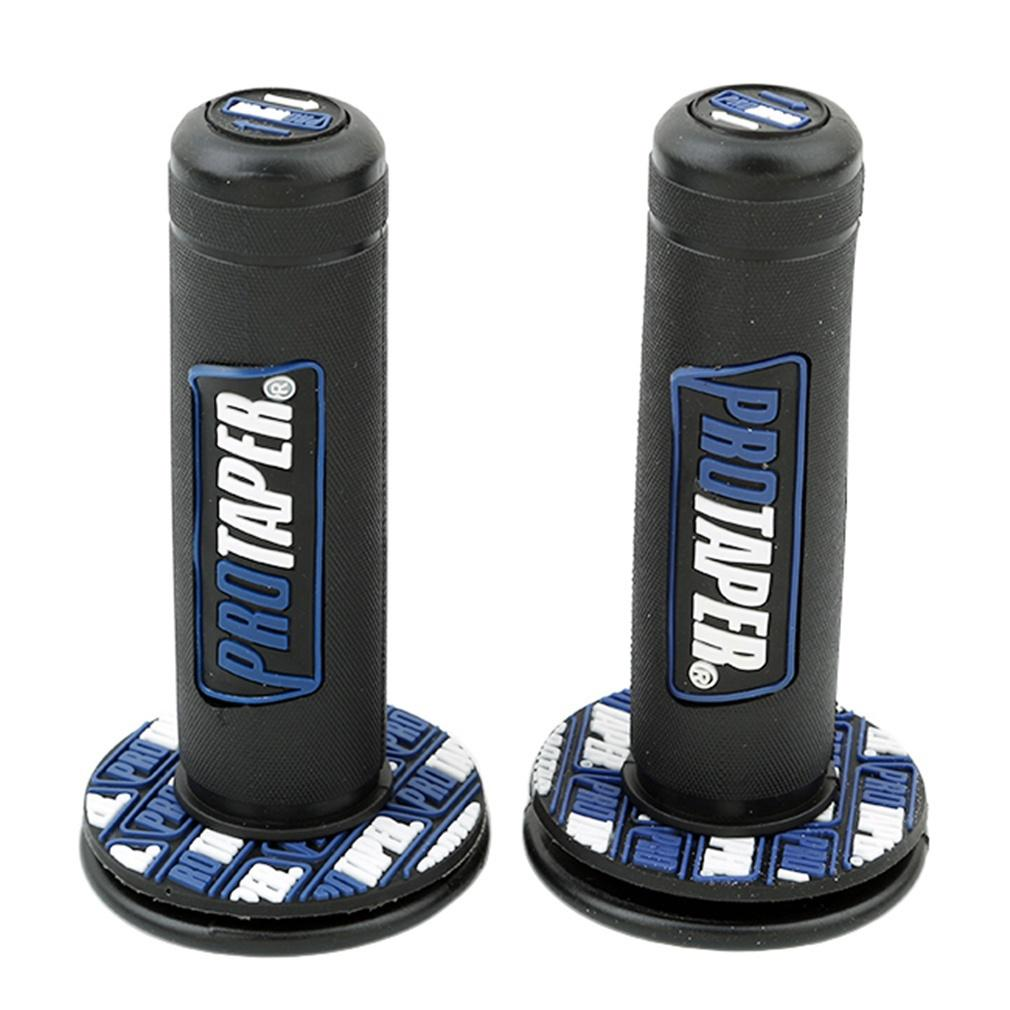 NEW PRO TAPER BLUE HANDLEBAR GRIPS MOTOCROSS TRAILS MX 22MM 7//8 DIRT BIKE HAND