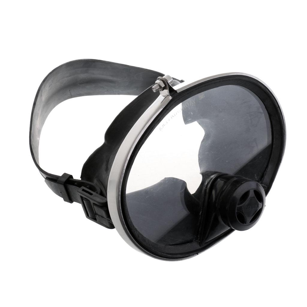 Spearfishing Free Dive Oval Shape Classic Dive Full Mask Adjustable Goggles
