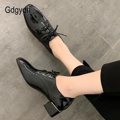 Spring Women Pumps Leather Square Heels