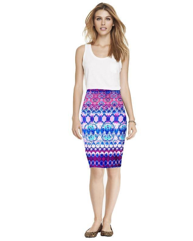 dd20cbb94 Sally tienda estilo Moda primavera verano Vintage impreso lápiz falda Midi  mujeres rodilla elástico
