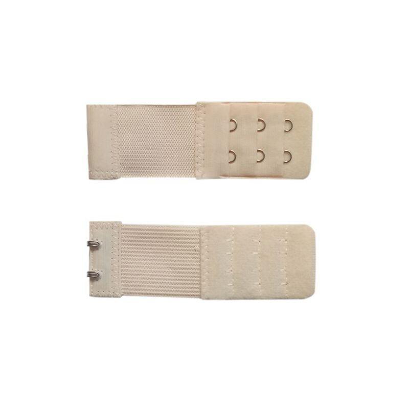 3pc Bra Extender Extension Elastic 2 Hooks Clip On Strap Soft Bra Band Extenders