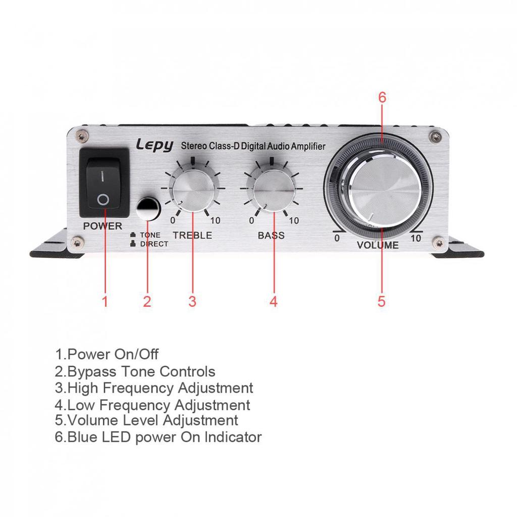 20w X 2ch Mini Class D Hifi Audio Amplifier Power Stereo Low With Digital Volume Control 2 Of 11