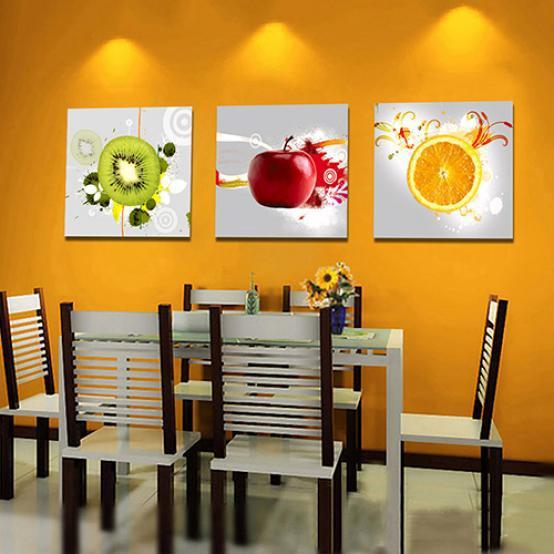 3PCS NEW CANVAS MULTI WALL ART PICTURE FRUITS PRINT HOME DECORATION 20x20CM
