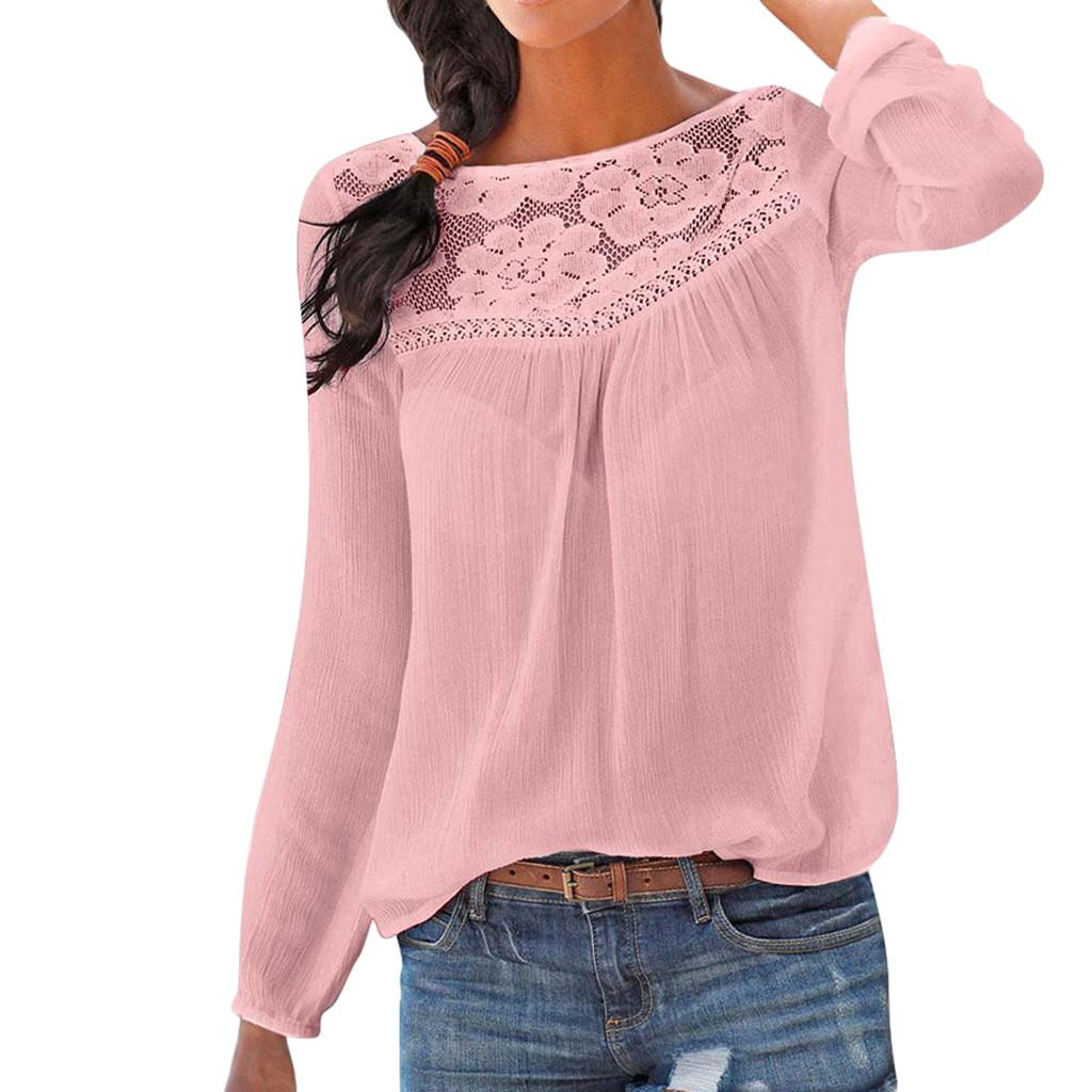Fashion Womens Lace Patchwork Flare Ruffles Short Sleeve Floral Shirt Blouse Top