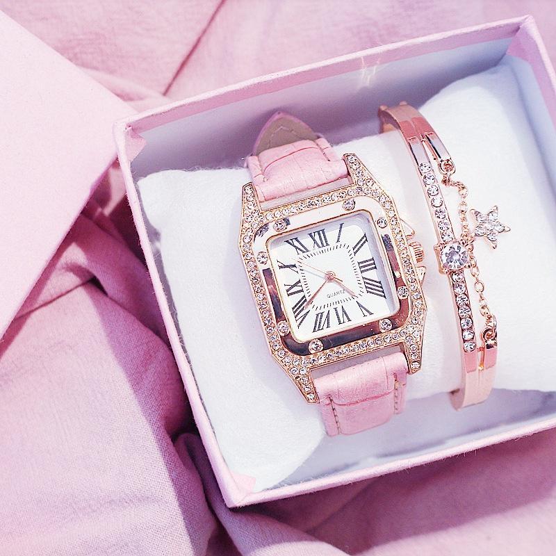 Роскошные Алмазные Дамы Часы и Браслет Установить или смотреть Дамы только мода Аксессуар фото