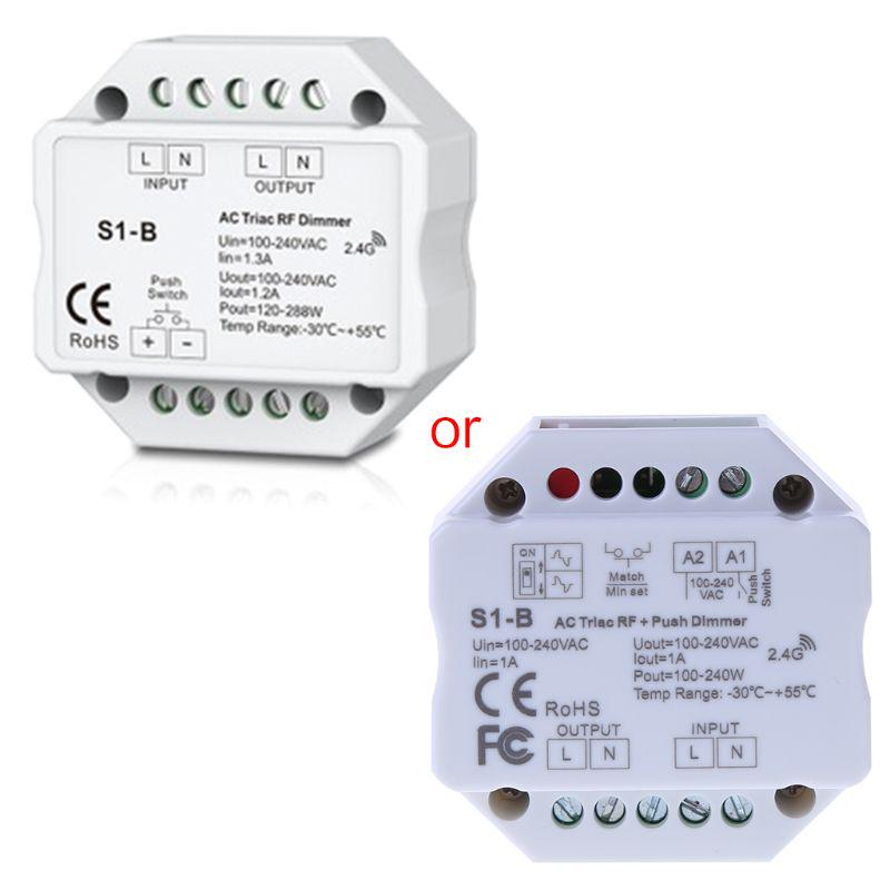 AC Triac Dimmer LED 220V 110V Dimmable Knob Push Switch Controller For Light