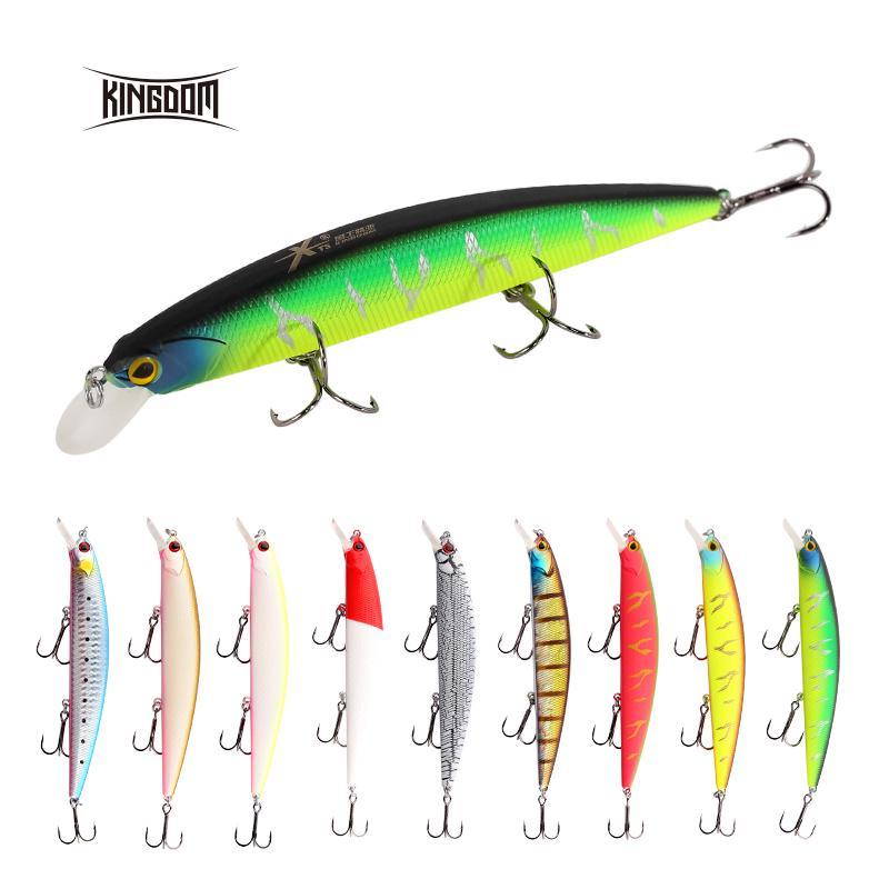1Pcs Minnow Crank Fishing lures Jerkbait wobblers 13cm//22.8g Hard Bait  Bass Fre