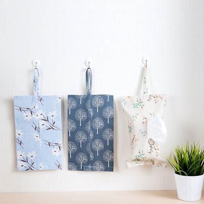Cotton Linen Removable Tissue Box Car Paper Tray Toilet Towel Bag Napkin Holder