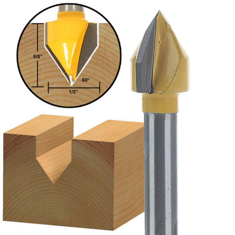 CNC 60° 60 Degree Router Engraving Wood Working V Groove Bit 6x10mm   SG