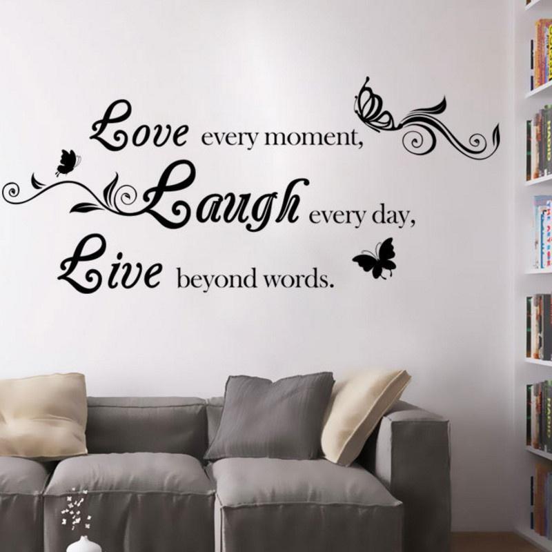 Viva la risa amor citas aciones desprendible diy mariposa pared ...