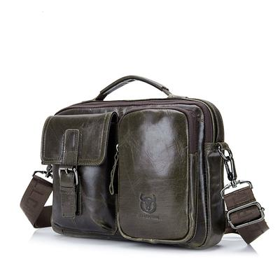 0be9fc33859b Мужской портфель кожаный ноутбук сумки 14'' кожа через плечо Сумки на плечо