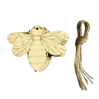 10 Laser Cut Fairy Butterfly Wood Tag String Xmas Tree Embellishments Craft