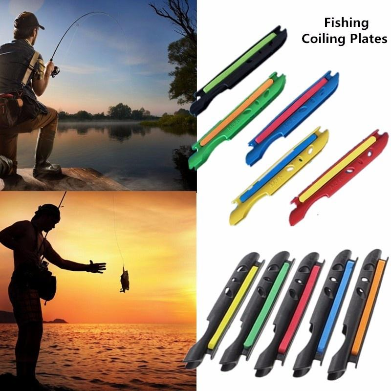 Details about  /1//4pcs Fishing Coiling Plate Winding Board Lines Fishing Line Rod Bobbin Holder