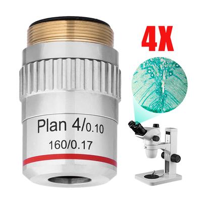 4X 10X 40X 100X Biological Microscope Achromatic Objective Lens Jeweler Loupe Lens 1080P Wireless Magnifier Light Weight /& Portable