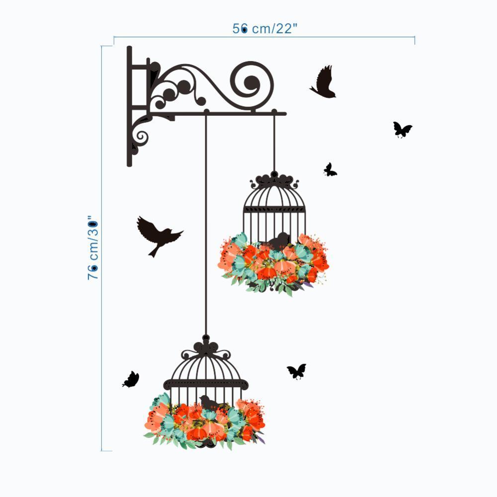 Pvc Duvar Sanat Ev Geliştirme Kuş Kafesi Sticker Duvar çıkartma Asma