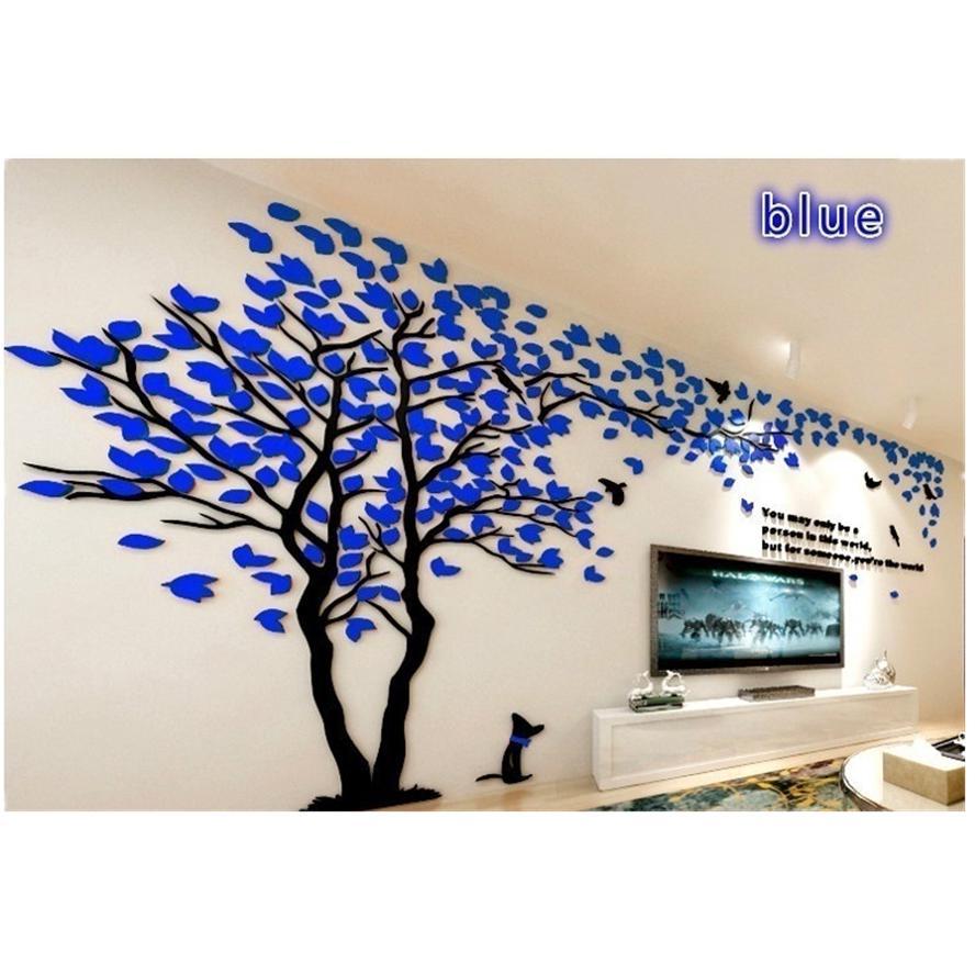 Spiegel Wohnzimmer Wandtattoo Baum Stereo TV Sofa