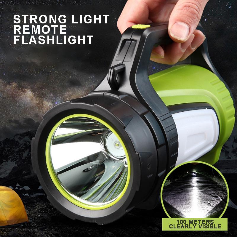 Portable LED Torch Flashlight Head COB Side Light USB Rechargeable Searchlight