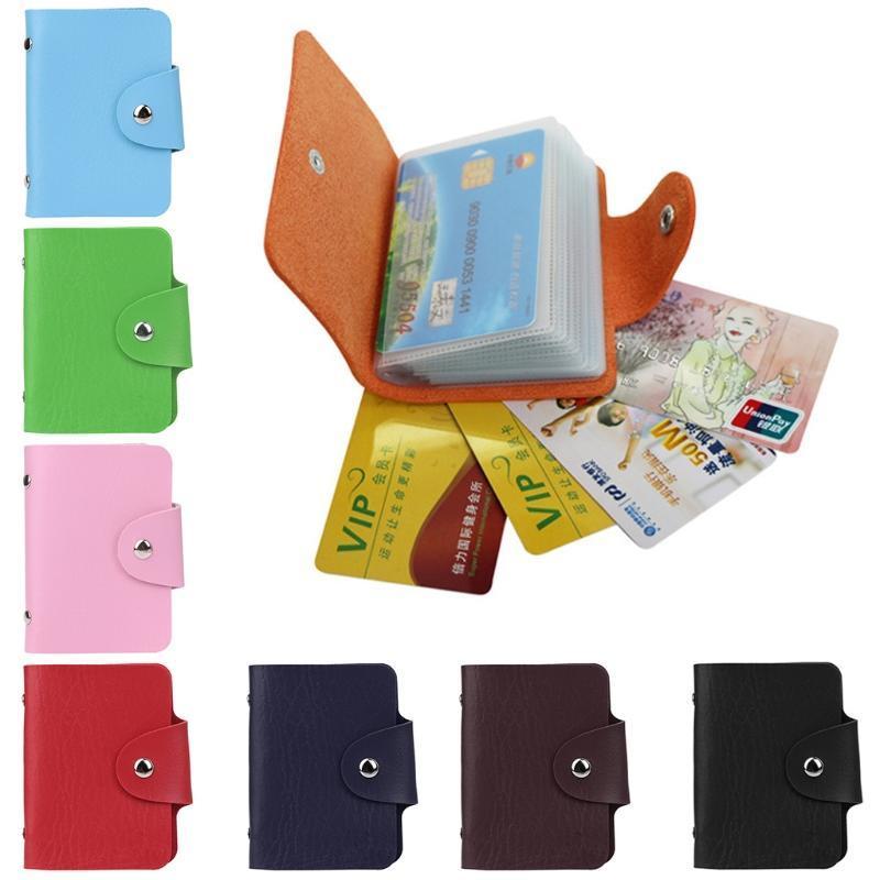 Женщины мужчины карман 24 карты ID кредитной карты держатель кошелек бумажник бизнес фото