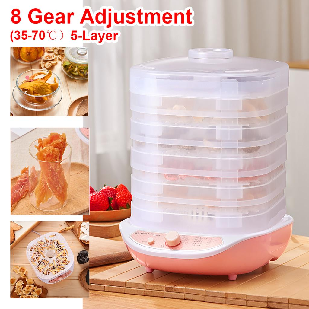 Five Layers Food Dryers Fruit Vegetable Herb Meat Dehydrator Air Drying Machines