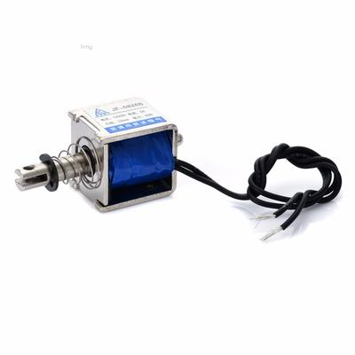 Open Frame Solenoid Reset 10mm Push Pull Type Electronic DC Electromagnet