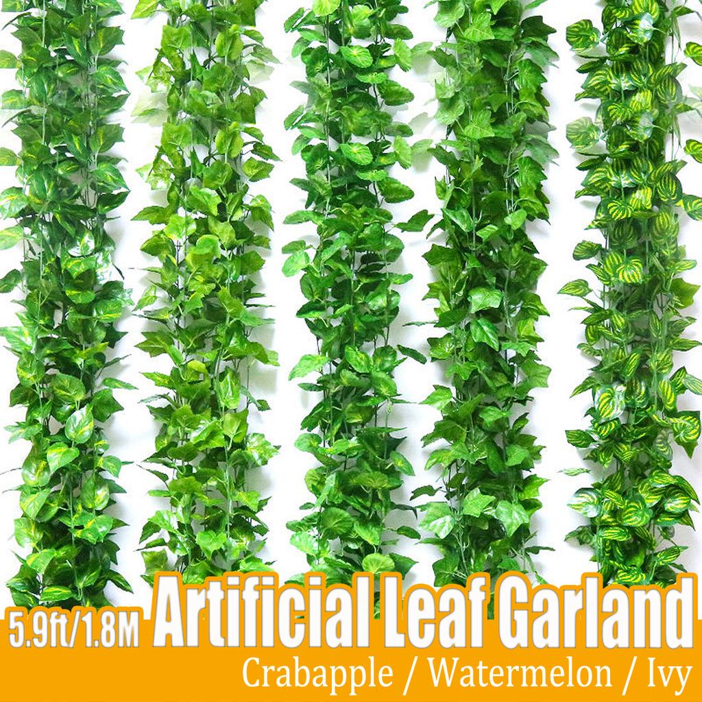 1x Artificial Ivy Leaf Garland Plant Hanging Vine Leaves for Wedding Party Decor