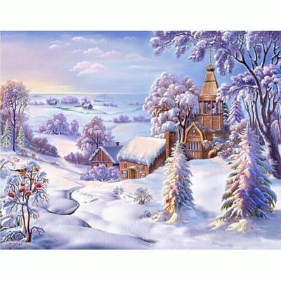 Diamonds painting cross stitch Winter wonderland Diamond Embroidery home decors