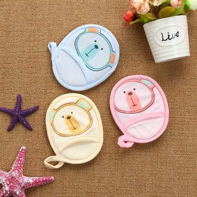 Newborn Kid Baby Girls Boys Cartoon Cotton Shower Body Wash Sponge ...