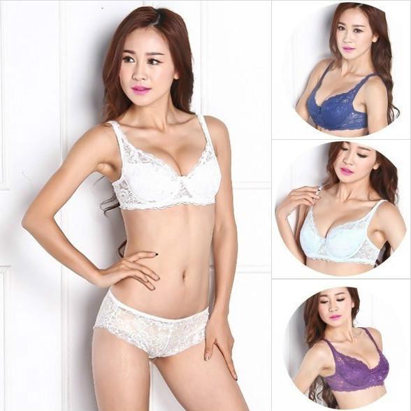 外贸品牌文胸夏季超薄款透气大码蕾丝胸罩性感聚拢调整型内衣