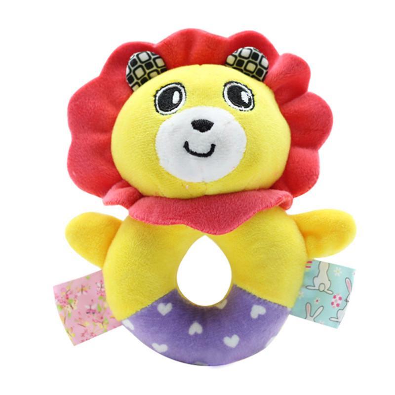 Baby Boys Girls Soft Plush Rattle Toys Newborn Cartoon Animal Design FB