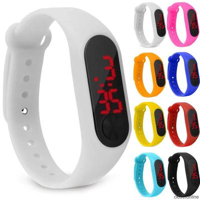 COD LED Digital Electronic Waterproof Display Silicone Wrist Watch  for Children Boys Girls Student Sports
