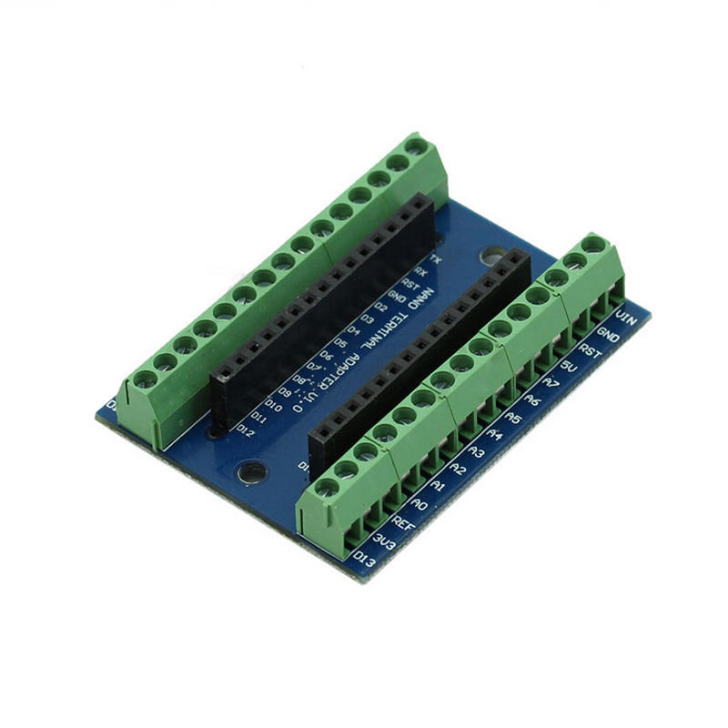 10PCS Nano Terminal Adapter for the Arduino Nano V3.0 AVR ATMEGA328P-AU Module