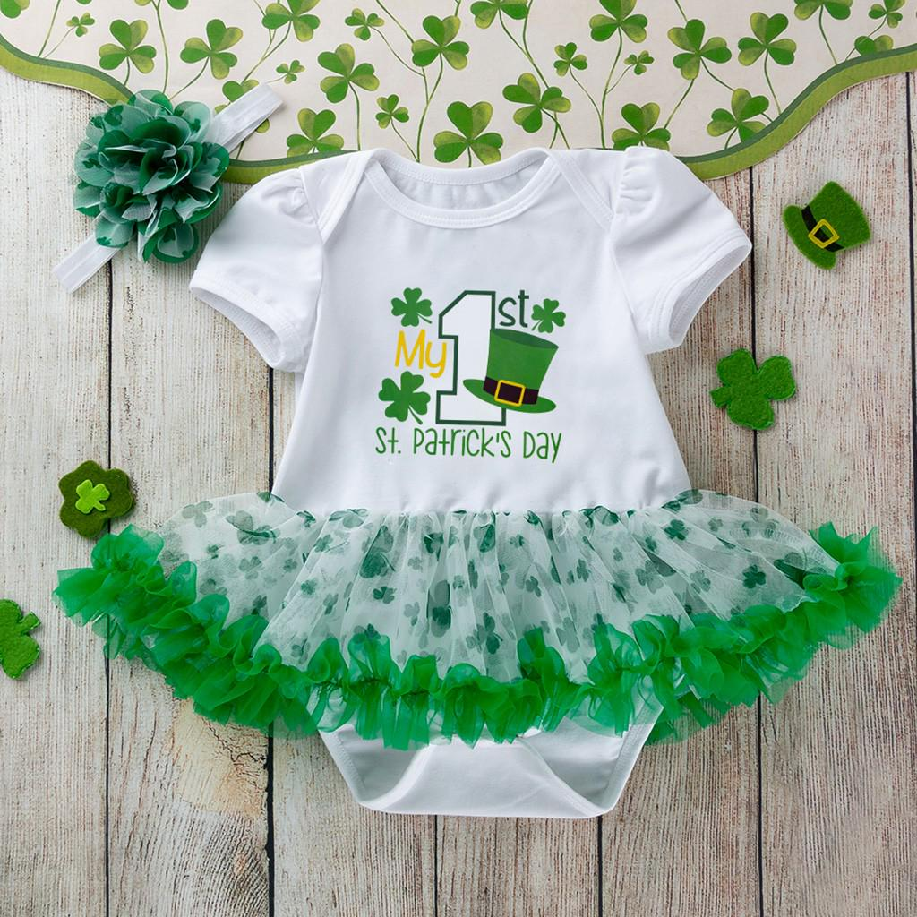 UK Stock Toddler Baby Girl St.Patrick/'s Day Clothes T-shirts Tops Pants Outfits
