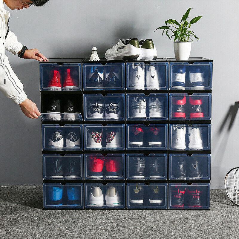 1pc Transpa Shoe Box Dustproof, Shoe Box Storage