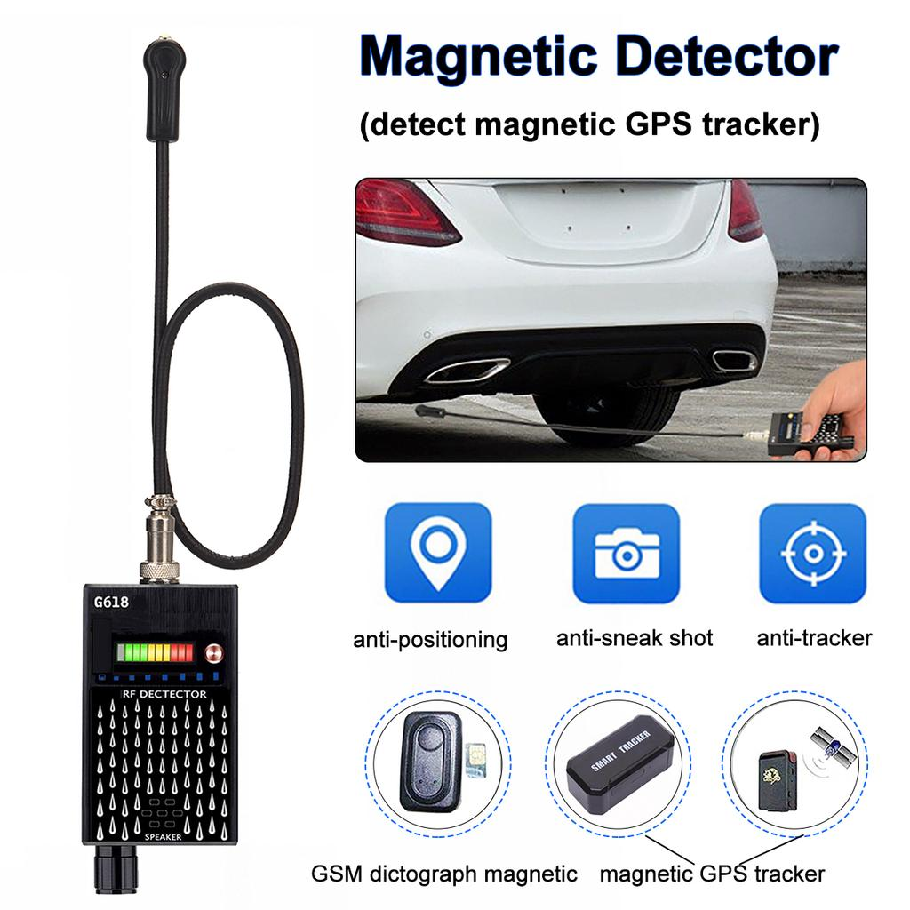 Professional Magnetic GPS Tracker Detector G618D Finder for Magnet Hidden Audio GPS Eavesdropping Bug Designed for GPS Tracker with Magnetic
