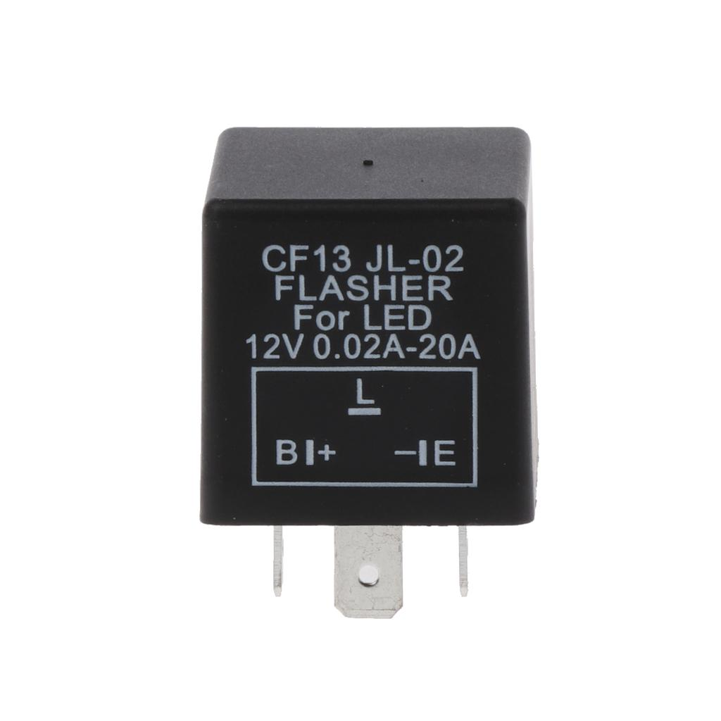 3-Pin Electronic Car Flasher Relay CF13 JL-02 fix LED light Hyper Flash Blinking