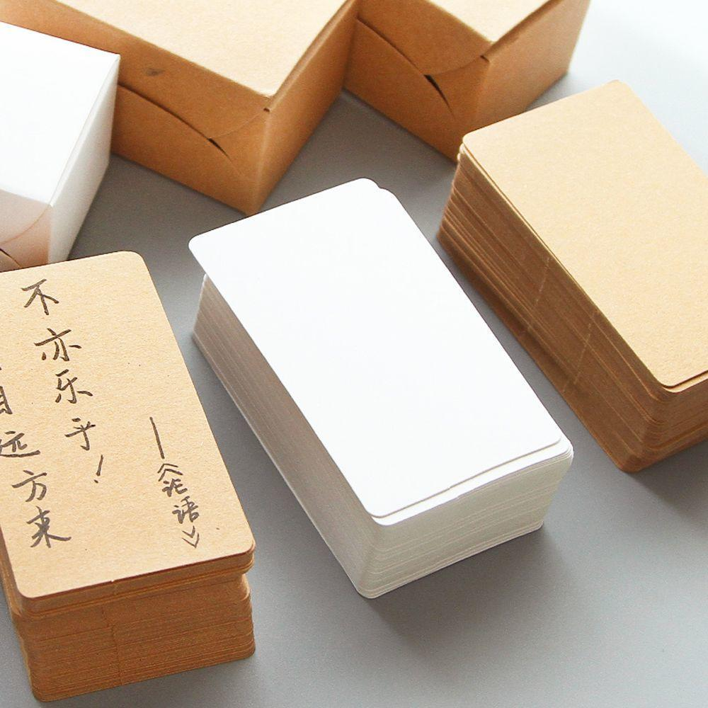 Card Kraft Paper Blank White Memo Pad Message Cardboard Sticky Notes Note Pads
