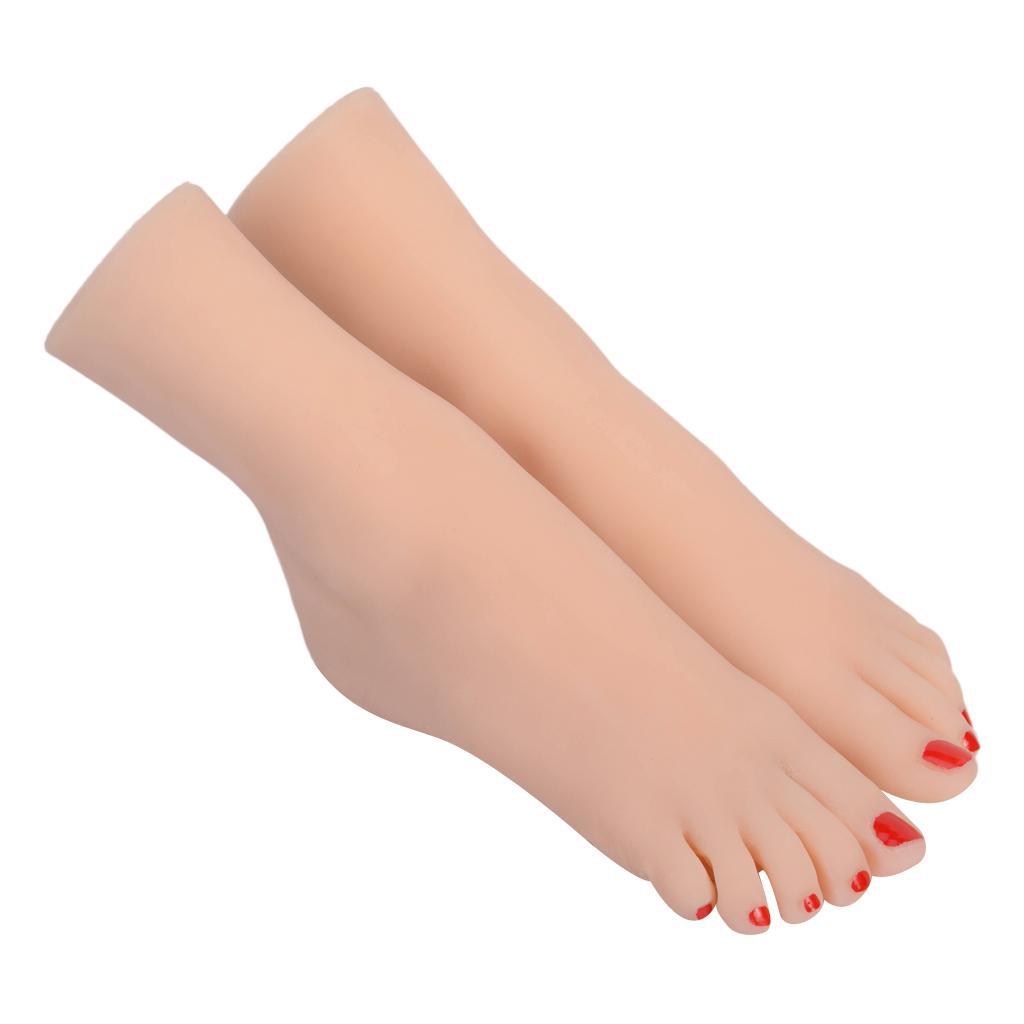 1 Pair Female Foot Mannequin Foot Model for Socks Chain Display