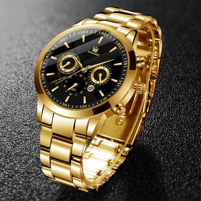 Men'S Watch Fashion Stainless Steel Men'S Quartz Watch Business Sports Clock