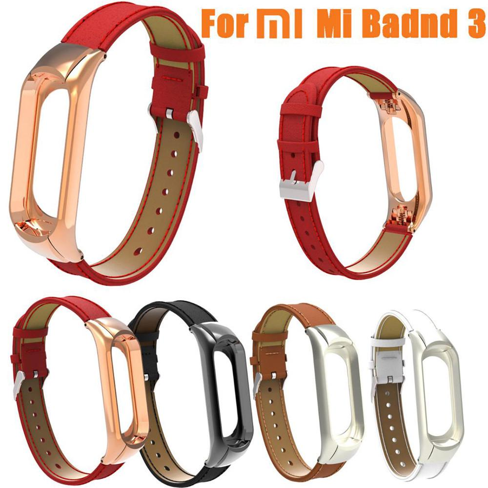 Sweet-Tempered Strap Accessories Fashion Leather Bracelet Strap Weave Braided Bracelet Replacement For Xiaomi Mi Band 3 Sport Watch Smart Electronics Consumer Electronics