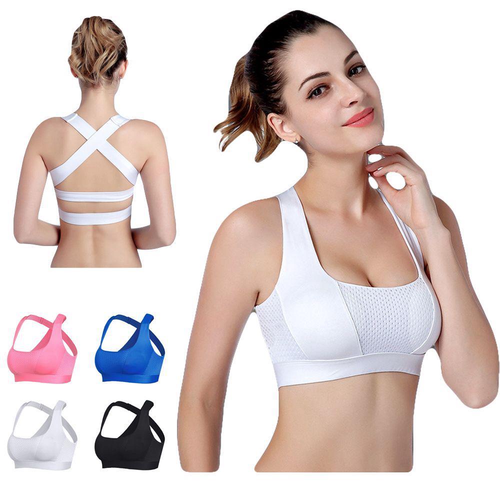 fe81dea213 Padded Push Up Cross Strap Crop Top Yoga Underwear Fitness Vest ...