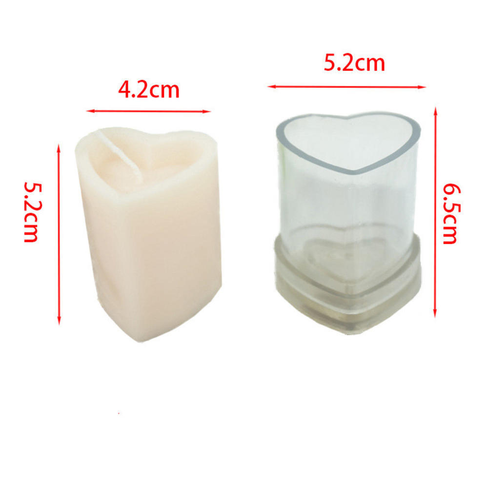 diy el yapimi mum kalip mum yapimi 3d columnar kalp shape plastik akrilik kalip recine kalip