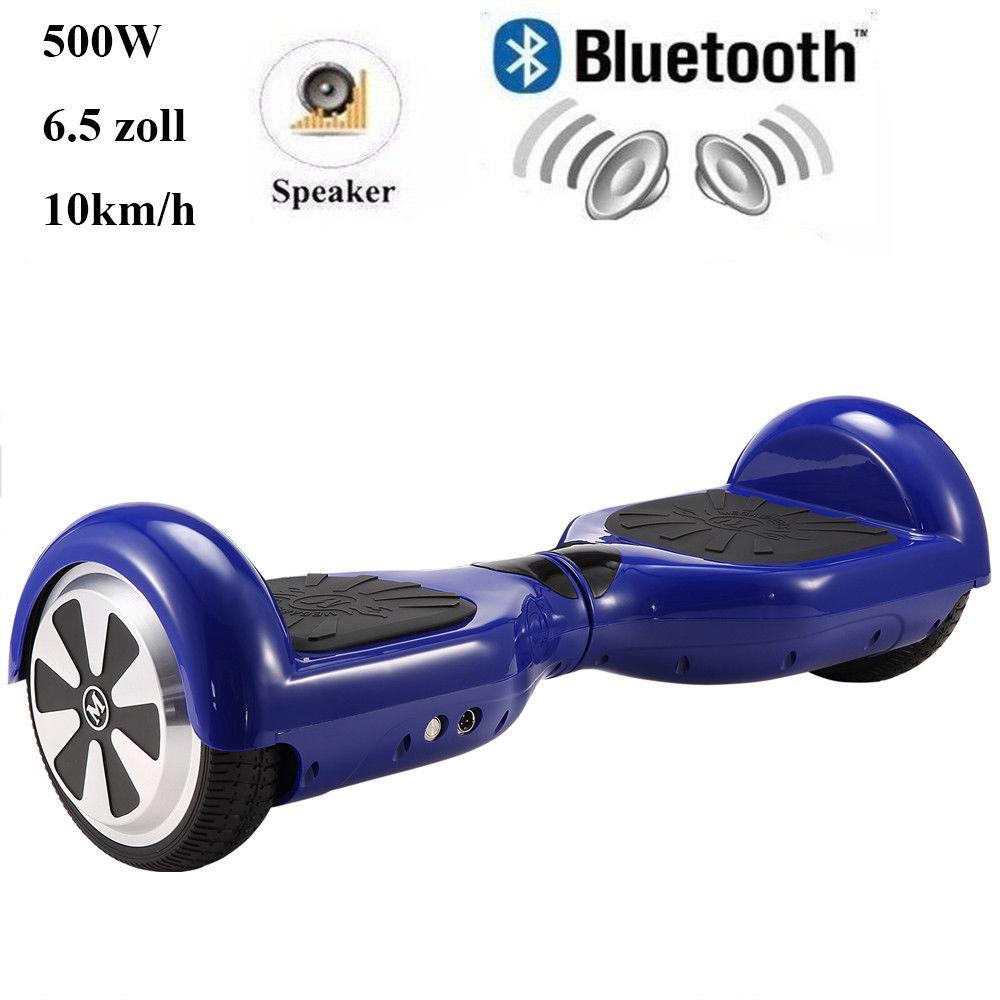 6,5  ZOLL Skateboard E-Balance Scooter Bluetooth Self Balancing E-Skateboard LED