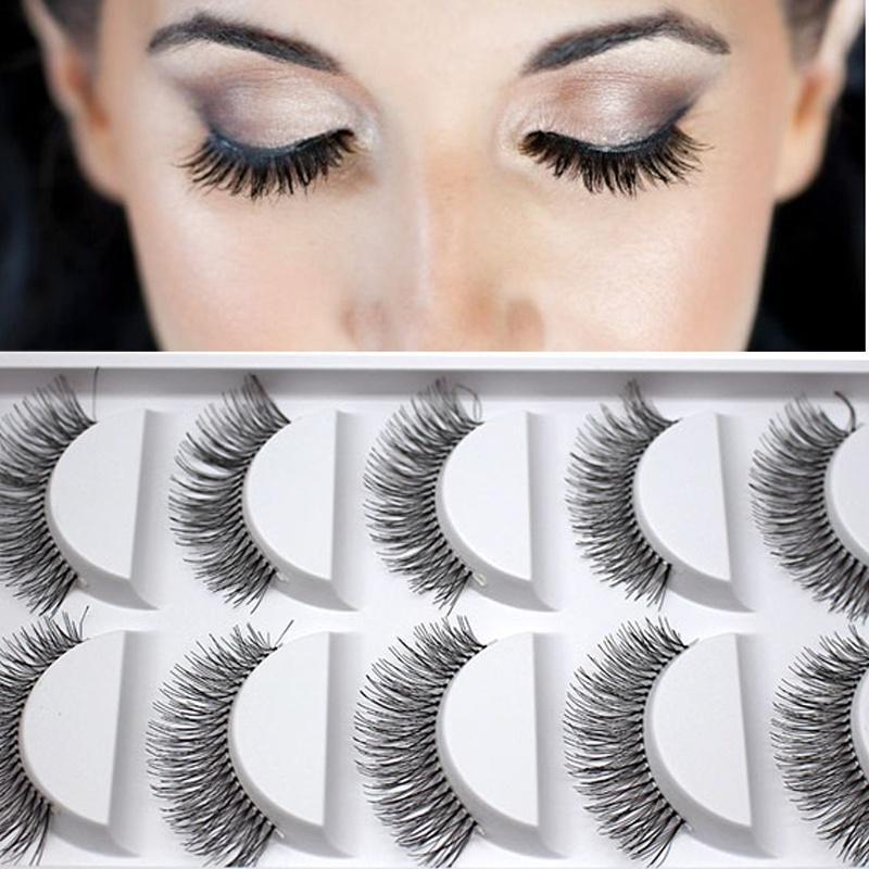 10Pairs горячие природных толстые длинные ресницы глаз ресниц объемные макияж набор фото