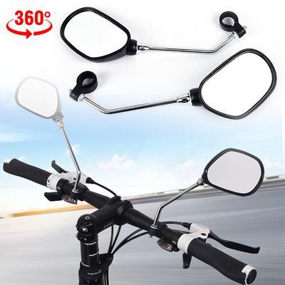 1pair Cycling Bike Bicycle Rear Back View Mirror Handlebar Flexible Rearview-New