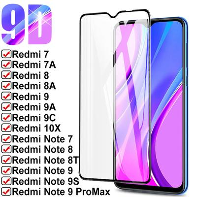 9D 9H Full Tempered Glass For Redmi 7 7A 8 8A 9 9A 9C For Xiaomi Redmi Note 7 8 8T 9S 9 10X Pro Safety Protective Glass Case